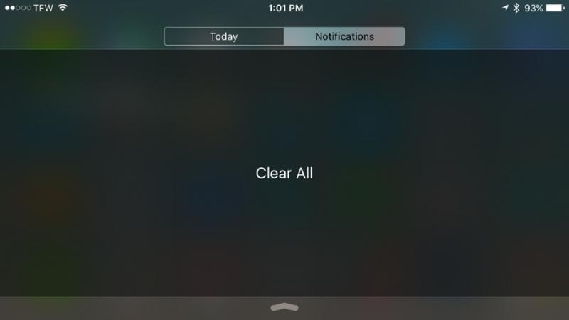 Tweak ថ្មីសម្រាប់ iPhone 6s និង 6s Plus អាចអោយអ្នកប្រើកម្លាំងសង្កត់ដើម្បីសម្អាតរាល់ Notifications ចោលទាំងអស់