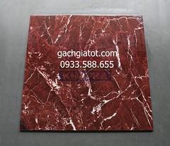 Gạch bóng kiếng toàn phần vân đá đỏ 60x60