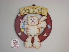 Gatinho...guirlanda (Ma Ma Marie Artcountry) Tags: cat guirlanda gato madeira mdf enfeite pinturacountry pinturadecorativa dunaatelie