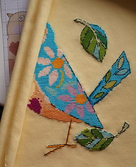 Bird Talk cross stitch (katarishko) Tags: crossstitch needlework handmade embroidery pointdecroix floss threads bordado broderie pontocruz xstitch  ricamo   kreuzstich etamin  evenweave   kanavice carpiisi