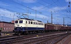 150 064  Ulm Hbf  12.06.91 (w. + h. brutzer) Tags: analog train germany deutschland nikon eisenbahn railway zug trains db 150 locomotive ulm lokomotive elok eisenbahnen e50 eloks webru