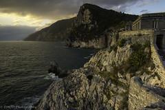 Gulf of Poets (dmj.dietrich) Tags: sea italy cliff clouds landscape seaside nikon mediterranean mediterraneo italia outdoor liguria cliffs portovenere goldenhour laspezia gulfofpoets grottoarpaia world100f byronsgrotto bayofpoets nikondf dmjd