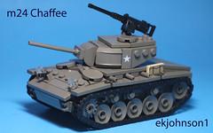 M24 Chaffe (ekjohnson1) Tags: world two war tank lego wwii german american ba dday m4 sherman moc chaffee afol m24 brickarms brickfair bfal bfva