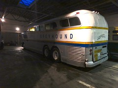 The scenicruiser is inside now! (DieselDucy) Tags: greyhound museum coach trolley commonwealth scenicruiser buseum