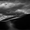 The Journey (Khaled A.K) Tags: light shadow blackandwhite storm monochrome clouds square sand desert dunes camel saudiarabia khaled kashkari