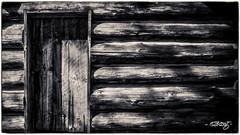 Cabin Door #2 (dougkuony) Tags: blackandwhite bw monochrome mono hdr itasca itasca14 wegmanncabin