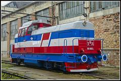 55.062.4 (Zoly060-DA) Tags: blue red white private grey hp diesel rail februarie company bulgaria romania works locomotive bo 16 bucuresti cluj napoca dhc 1250 maschine hydraulic shunter 040 faur bdz remarul monocabine