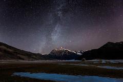 Stars and Ice (pixadeleon) Tags: mountains ice stars switzerland feld eis schwyz einsiedeln milkyway sihl milchstrasse sihlsee fluebrig challengegamewinner