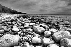 Rocky Beach (Jens Haggren) Tags: sea sky beach water clouds rocks sweden olympus omd öland em1