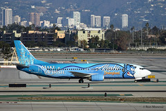 "Special Livery Alaska Airlines - ""Make a Wish"", Disneyland, Boeing 737-400 (Ron Monroe) Tags: disneyland boeing lax airlines airliners 737 alaskaairlines makeawish klax n706as"