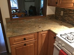 Kitchen Remodel (woodstockfloors) Tags: kitchen tile sink granite backsplash countertops lvt