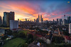Sunrise in Kuala Lumpur (Nur Ismail Photography) Tags: zeiss shopping skyscrapers petronas commercial twintowers petronastwintowers petronastower3 nurismailphotography nurismailmohammed nurismail frozenlite variotessartfe41635
