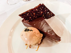 Chocolate tart desert at Felix in Sydney (ultrakml) Tags: food desert felix chocolate au sydney australia newsouthwales tart appleiphone6plus