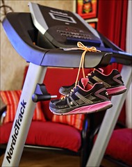 Our Daily Challenge: Resolve (Sue90ca A Warm Weekend Ahead?) Tags: canon shoes treadmill 6d odc resolve