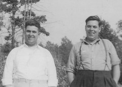 Brothers  Marshall Drummond and Clifford drummond 1935 (Marshall Drummond BSc.) Tags: brothers marshalldrummondandclifforddrummond1937sandbanks princeedwardcounty brothersmarshalldrummondandclifforddrummond1937sandbanksprinceedwardcounty sandbanks