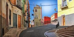 (336/16) Calles de Villajoyosa (Pablo Arias) Tags: pabloarias photoshop nxd cielo nubes texturas arquitectura casas edificios colores callejn villajoyosa lavila alicante comunidadvalenciana