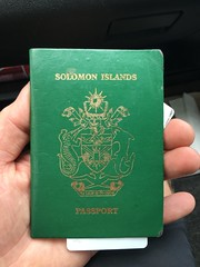 Solomon Islands passport!