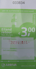 Ticket Arriva Eiland Retour Nes Buren 09-10-2016 (marcelwijers) Tags: ticket arriva eiland retour nes buren 09102016 buskaart bus ameland
