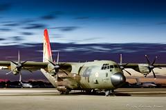 Hercules of 47 Squadron, 100th Anniversary scheme (DrAnthony88) Tags: modernmilitary nikkor24120f4gafsvrii nikond810 rafnortholt rafsation royalairforce specialtail zh88047sqncentenaryc130j airbase airfield england london northolt twilight uk