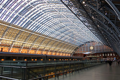 St Pancras railway station London (Basil Parylo) Tags: st pancras railway station london