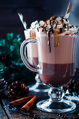 Homemade hot cocoa (lyule4ik) Tags: beverage drink xmas christmas cream mocha sweet coffee latte cup chocolate cocoa mug espresso cappuccino hot cafe milk dessert caffeine brown foam froth whipped food cinnamon gourmet refreshment frappuccino delicious liquid bar whisky alcohol black traditional cocktail whiskey sugar liquor liqueur irish syrup glass background table white macchiato topping
