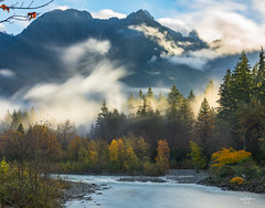 25 seconds of middle-earth (Howard Ryder) Tags: washingtonstate snohomishcounty index indexgalenard skykomishriver fallcolors fall turningcolor fallingleaves clouds cloudporn nikon d810 ryderphotographic howardryder tamron le longexposure nd1000 upperleftusa saturday saturdaymorning