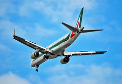 Alitalia Cityliner E190 EI-RNB (Infinity & Beyond Photography) Tags: alitalia cityliner regional jet embraer e190 london city airport lcy eglc aircraft airplane airliner eirnb