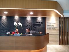 Reception counter (A. Wee) Tags: jakarta 雅加达 indonesia 印尼 airport 机场 cgk soekarnohatta terminal3 garudaindonesia lounge