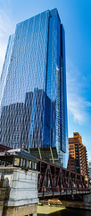 Chicago Skyscraper (brian_barney9021) Tags: chicago skyscraper bridge panoramic panorama nikon photography city windy building tall reflection prospective d3200 35mm architecture art aspect ratio