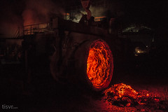 All Your Steel: Cave to hell (UJMi) Tags: iron lahore pakistan steel steelmill fire industrial night sony nex nex7 electric furnace smelter hardwork ironwork idustry