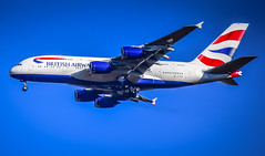 British Airways Airbus A380 (G-XLEK) approaching Dulles Washington (IAD) Airport Chantilly VA (mbell1975) Tags: chantilly virginia unitedstates us british airways airbus a380 gxlek approaching dulles washington iad airport va washingtondulless plane jet airline airliner airlines ba