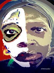 IMG_8393_Self_DiaMuertos_SD2016 (Stephenie DeKouadio) Tags: canon painting portrait selfportrait diasdelosmuertos diadelosmuertos art artistic woman color colour colorful