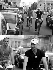 [La Mia Citt][Pedala] con il BikeMi (Urca) Tags: milano italia 2016 bicicletta pedalare ciclista ritrattostradale portrait dittico nikondigitale mir bike bicycle biancoenero blackandwhite bn bw 89599 bikemi bikesharing