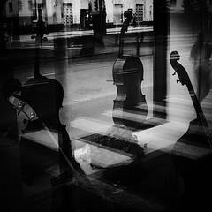 window (s_inagaki) Tags: window reflection music instrument street snap helsinki finland blackandwhite bnw bw