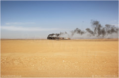 A Sandy Place (channel packet) Tags: syria steam train railway railroad hedjaz holy line desert sand smoke blue sky landscape davidhill