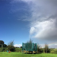 Only in Ireland will your back garden have two different weather conditions at the same time #Ireland #blue #sky #grey #clouds #weather #garden #ahLad (AlanMc69) Tags: home garden trampoline weather cloudysky bluesky sky halfandhalf ireland irish iphone instagramapp square squareformat iphoneography