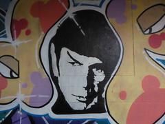 graffiti, Leake Street (duncan) Tags: graffiti leakestreet spock mrspock dope stencil