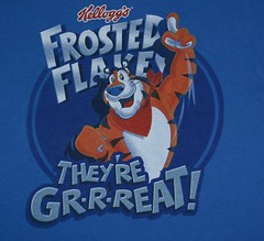Tony the Tiger Graphic Tee Shirt (itstayedinvegas-4) Tags: graphicteeshirt tonythetiger frostedflakes kelloggs cereal breakfast theyregreat