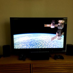 Just watching live footage of space from my sofa, that's all (296/366) (garrettc) Tags: science nasa internationalspacestation iss tv home 366 365