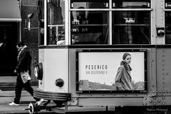 Le Tram de Milan. (Bouhsina Photography) Tags: street rue milan milano italy italie black white bw bouhsina bouhsinaphotogrphy