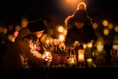 All Soul's Day (iwona_podlasinska) Tags: all souls day poland november holiday candles lights cementary graveyard children