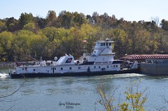 MV John F. Secrest_0059 (Porch Dog) Tags: 2016 garywhittington nikond7000 nikon18300mm november rambling fall autumn towboat ingrambargeco mvjohnfsecrest canal barge