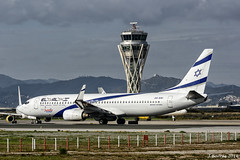 Sun d'Or - El Al - Boeing 737 800 - 4X-EKI (j.borras) Tags: airplane spotting barcelona bcn lebl takeoff departing rwy25l boeing 737 800 elal sun dor 4xeki