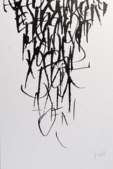 From above (Ivan Jernimo) Tags: caligrafia calligraphy calligraphie kalligraphie contemporary modern expressive abstract art composition desconstructed abstrata contempornea contemporaine ruling pen tiralinhas tiralineas tireligne