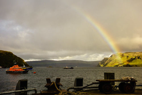 Rainbow over Portree Harbour