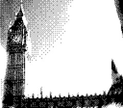 The Elizabeth Tower, London (Edd!) Tags: england blackandwhite london westminster big ben parliament bigben gameboy gameboycamera