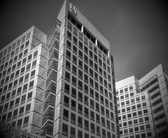 Adobe Headquarters (Photographing Travis) Tags: adobe sanjose downtown corporate headquarters building bw southbay 2015