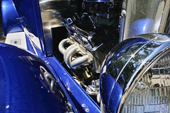 Ripple and Blue (~ Liberty Images) Tags: auto blue chevrolet silver classiccar automobile chevy chrome headlight cobalt libertyimages