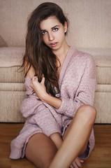 Juliet (mazur.klaudia) Tags: portrait woman girl beautiful beauty face canon naked 50mm amazing natural legs makeup sensual expressive brunette non portret dziewczyna kobieta