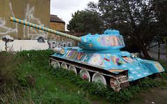 Josef and the Amazing Technicolour... (roger.w800) Tags: streetart london graffiti war tank russia wwii communism ww2 russian stalin wartime t34 russiantank josefstalin militaryjunk